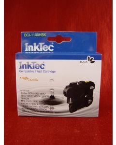 Kartridż InkTec BCI-1100HBk, zamiennik do Brother LC1100Bk /LC980Bk
