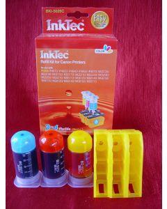 Zestaw InkTec BKI-5026C, do napełniania kartridży - cmy 3 x 20ml + akcesoria