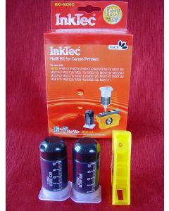 Zestaw InkTec BKI-5026D, do napełniania kartridży - black 2 x 20ml + akcesoria