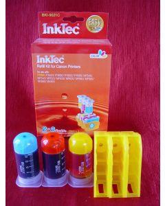 Zestaw InkTec BKI-9021C, do napełniania kartridży - cmy 3 x 20ml + akcesoria