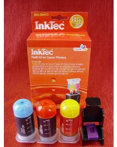 Zestaw InkTec BKI-9041Cdo napełniania kartridży - cmy 3 x 20ml + akcesoria