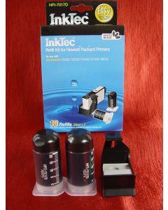 Zestaw InkTec HPI-7017D, do napełniania kartridży – black photo 2 x 20ml + akcesoria