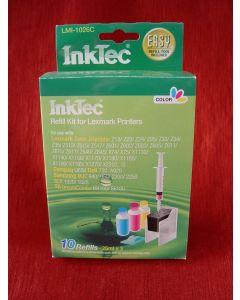 Zestaw InkTec LMI-1026C,do napełniania kartridży - cmy 3 x 25ml + akcesoria