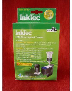 Zestaw InkTec LMI-3218D, do napełniania kartridży - black 2 x 20ml + akcesoria